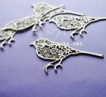 lacy birds, 5 pieces