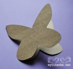 "CARD Butterfly , colour ""KRAFT"""