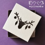 "WINTER DOODLES - box with openwork top ""Christmas reindeer""  - 10x10x3 cm, colour ""KRAFT"""