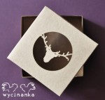"WINTER DOODLES - box with openwork top ""reindeer"" - 10x10x3 cm, colour ""KRAFT"""