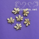 chestnut leaves - plywood 3mm, 6 pcs.
