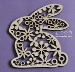 EASTER 2015  - bunny with ornament, plywood 3mm
