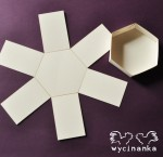 hexagon exploding box 8,5x10x8 cm colour: BROKEN WHITE