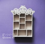 shadowbox with ornament 5,3x15,8x22,8 cm, plywood 4 mm