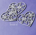 WINTER IS COMING - hearts with snowflakes