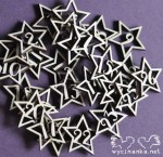 numbers in stars for Advent Calendar, 3 mm plywood