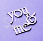 "inscription ""you & me"""