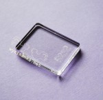 transparent stamp block, 3x4 cm