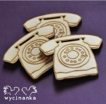 VINTAGE OFFICE - telephones, 3 mm plywood