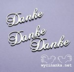 "word ""Danke"", 3 pcs."