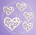 hearts with ornament