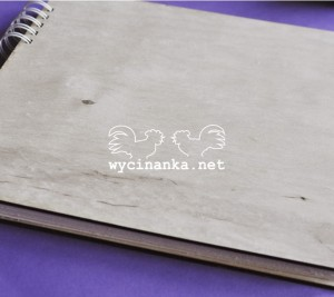album A4 cm - plywood cover, binded horizontal