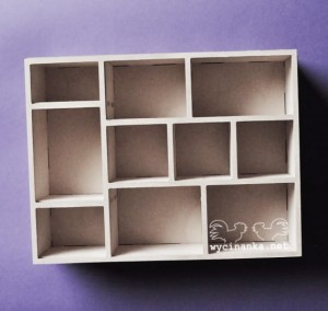 shadowbox 5,3x15,8x22,8 cm, plywood 4 mm