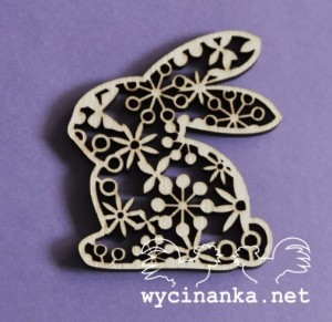 EASTER 2015 - bunnies with ornament, 3 pcs., plywood 3mm