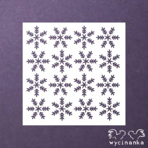 MASK/STENCIL - DECEMBER DIARY - snowflakes
