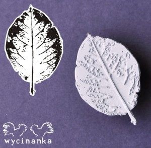 THE LOOK OF NATURE - STAMP - leaf, pattern 1; big