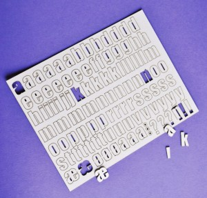 alfabet - arkusz, 13,3x17 cm  -Norwegian version