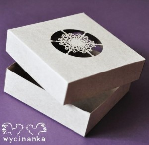 "CHRISTMAS JOY - box with openwork top - 10x10x3 cm, colour ""KRAFT"""
