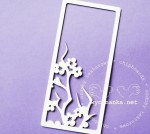 TWIG OF CHERRY BLOSSOMS - frame, pattern 1