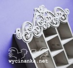 hanging shadowbox with ornament i5,3x15,8x22,8 cm, plywood 4 mm
