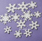 DECEMBER DIARY chipoboard snowflakes