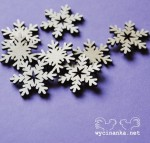 DECEMBER DIARY, snowflakes, 3 mm plywood