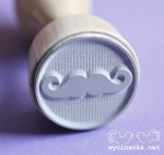 rubber stamp MAN'S WORLD mustache