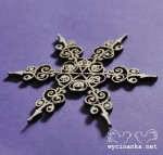 CHRISTMAS DOODLES - snowflake, pattern 1, plywood 3mm