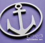 SUMMER AT THE SEASIDE - anchor, 6 mm plywood