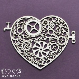 AROUND THE STEAMPUNK - heart, pattern 2