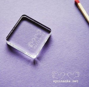 transparent stamp block, 1x1""