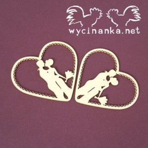TENDERNESS 5786 Hearts with couple in love - 2pcs