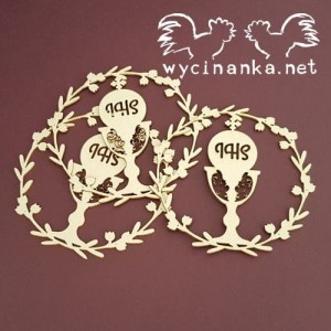 GRACE 5787 Wreaths with chalice - 3pcs