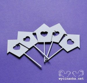 LOVE LETTER - birdhouse, 5 pcs.