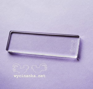 transparent stamp block, 3x10 cm