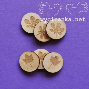 sycamore and chestnut leaves - plywood 3mm, 6 pcs.