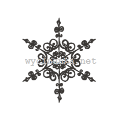 CHRISTMAS DOODLES - snowflake pattern2, rubber stamp 6,5x7,5cm