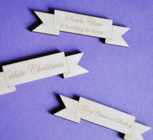 wooden christmas signboards, plywood 3 mm