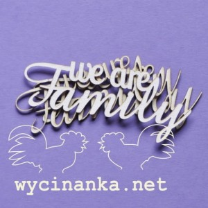 "FAMILY ALBUM - inscriptions ""we are Family"", 3 pcs."