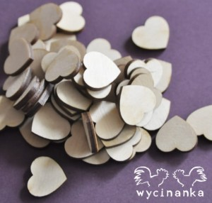 hearts 50 pieces, plywood 3 mm