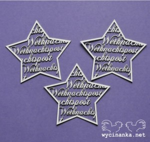 stars with inscriptions Weihnachtspost
