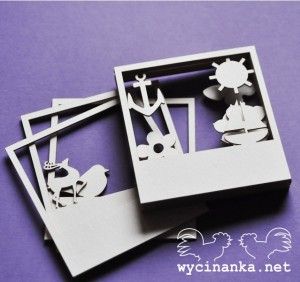 FOUR SEASONS - set of photo frames, 12 pcs.