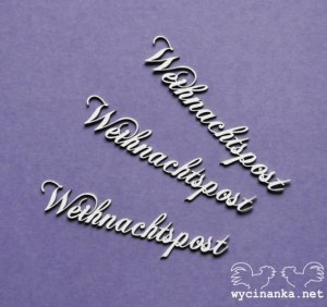 "word ""Weinachtspost"", 3 pcs."