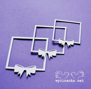 LOVE LETTER -frames with bows