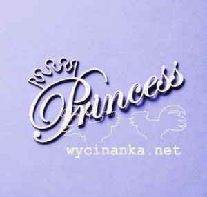 "inscription ""Princess"" with crown"
