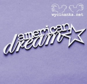 AMERICAN DREAM - napis