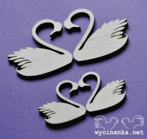 swans, plywood 3mm, 4 pcs.