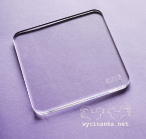 transparent stamp block, 10x10 cm