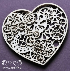 AROUND THE STEAMPUNK - three-ply heart