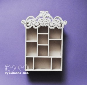 shadowbox z ornamentem 5,3x15,8x22,8 cm, sklejka 4 mm